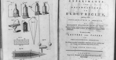 Diagrams of various electrical phenomena o  Experiments and Observations on Electricity. Library of COngress