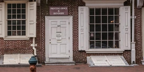 benjamin franklin printing house benjamin franklin historical society