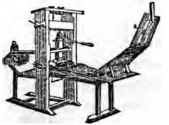 Franklin's printing press.