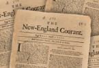 The New England Courant was founded in 1721 by James Franklin. It ceased publication in 1726.