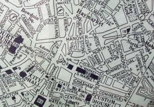 Old Boston Map