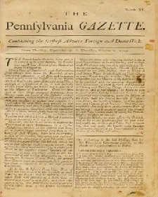 The Pennsylvania Gazette was founded by Samuel Keimer in 17