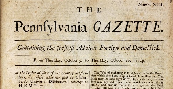 pennsylvania gazette benjamin franklin history pennsylvania gazette