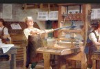 Printing Press. Charles Mills Murals, Benjamin Franklin Institute of Technolog