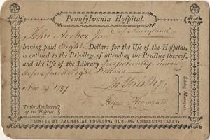 Pennsylvania Hospital – Benjamin Franklin Historical Society