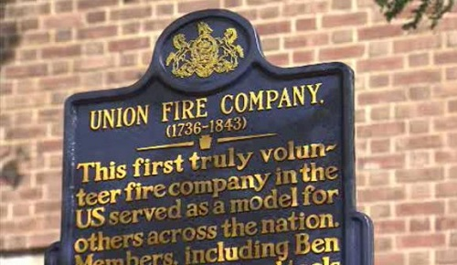 Union Fire Company, the first volunteer fire company in the country.