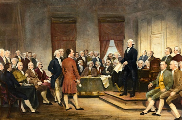 George Washington Addressing the Constitutional Convention,  Junius Brutus Stearns, 1856.