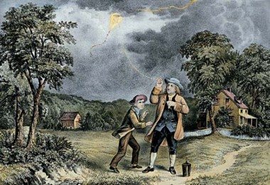 Franklin and kite experiment