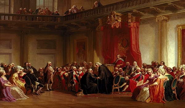 Franklin appeared before the Privy Council hearing of the Hutchinson Affair.