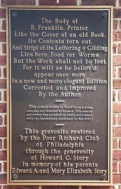 Franklin gravesite